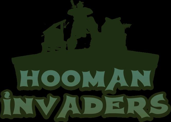 Hooman Invaders Logo